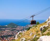 Dubrovnik flyg- sikt Arkivfoto
