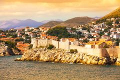 Dubrovnik fort from the sea Royalty Free Stock Photography