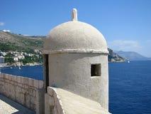 Dubrovnik forteca w południe Chorwacja - Fotografia Stock