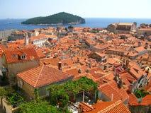 Dubrovnik forteca w południe Chorwacja - Zdjęcie Stock