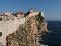Dubrovnik fortified old town, Croatia Stock Photography