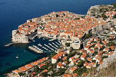 Dubrovnik fortress. Old Dubrovnik fortress seen from above Royalty Free Stock Photo