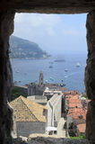 Dubrovnik, fortress and the old town with harbor Royalty Free Stock Photo