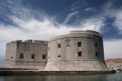 Dubrovnik fortress at port Stock Image