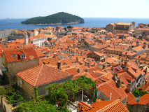 Dubrovnik Fortress - in the south of Croatia Stock Photo