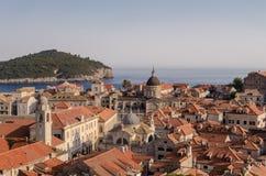 Dubrovnik från väggen arkivbild