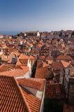 Dubrovnik från väggen royaltyfri foto
