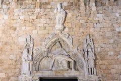 Dubrovnik Franciscan klosterpieta royaltyfria bilder