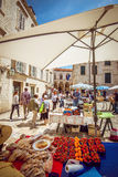 Dubrovnik fruit market Royalty Free Stock Images
