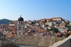 Dubrovnik gamla stadtak 3 arkivfoto