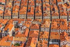 Dubrovnik gammal stad Arkivfoto