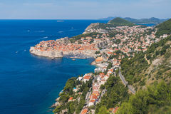 Dubrovnik gammal stad i sommaren royaltyfri bild