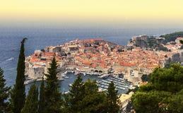 Dubrovnik gammal stad södra Dalmatia region på för Adriatiskt havet, C arkivfoton