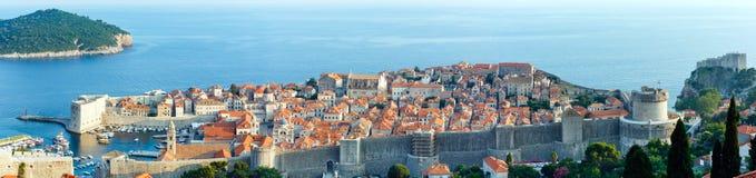 Dubrovnik gammal stadpanorama (Kroatien) Fotografering för Bildbyråer