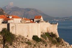 Dubrovnik gammal stadsikt från Sten Lawrence Fortress arkivbild