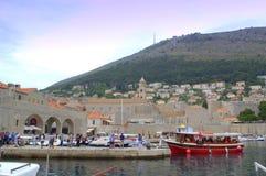 Dubrovnik gammal stadsmarina Arkivfoton