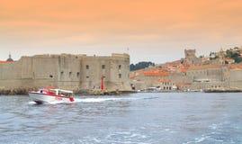 Dubrovnik gammal stadssikt, Kroatien Royaltyfria Foton