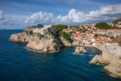Dubrovnik gammal town royaltyfri bild