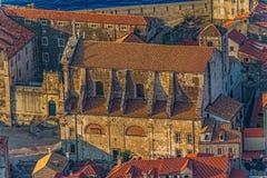 Dubrovnik gammal town Arkivbild