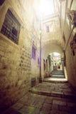 Dubrovnik gataliv, Kroatien Royaltyfri Fotografi