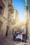 Dubrovnik gataliv, Kroatien Arkivfoton