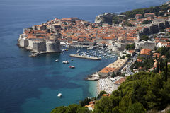 Dubrovnik. A great view of Dubrovnik from the view point Stock Image