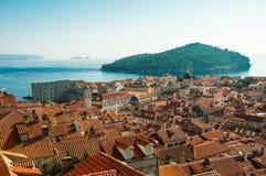 Dubrovnik-Hafen auf dem adriatischen Meer Lizenzfreie Stockfotografie