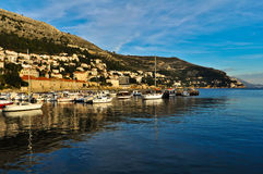 Dubrovnik hamn Arkivfoton