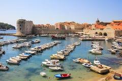 Dubrovnik hamn Fotografering för Bildbyråer