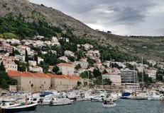 Dubrovnik hamn Arkivfoto