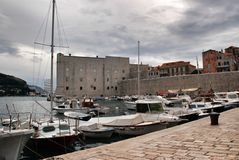 Dubrovnik hamn Arkivbilder