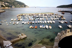 Dubrovnik harbor Royalty Free Stock Photos