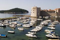 Dubrovnik Harbor With Boats Royalty Free Stock Photos