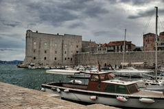Dubrovnik harbor Royalty Free Stock Images