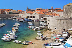 Dubrovnik harbor, Croatia Royalty Free Stock Photography