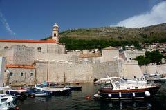 Dubrovnik harbor, Croatia stock images