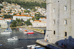 Dubrovnik Harbor, CROATIA. Royalty Free Stock Images