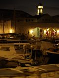 Dubrovnik harbor at night Royalty Free Stock Image