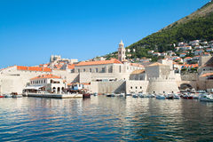 Dubrovnik harbor and old town Royalty Free Stock Photography