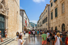 Dubrovnik-Hauptstraße Stradun Stockbild