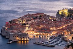 Dubrovnik Historic Center Early Evening. Early evening view of the historic center of Dubrovnik, Croatia royalty free stock images