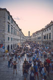 Dubrovnik historic center. Stradun is the main road of the historic center of Dubrovnik, there is a lot of tourist everytime Royalty Free Stock Images