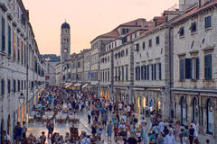 Dubrovnik historic center. Stradun is the main road of the historic center of Dubrovnik, there is a lot of tourist everytime Stock Images