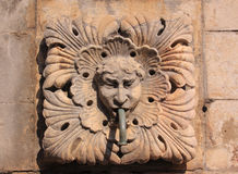 Dubrovnik historic fountain detail Stock Photo