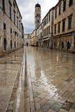 Dubrovnik i gryningregnet Royaltyfria Bilder