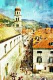 Dubrovnik ilustrado fotografía de archivo