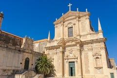 Dubrovnik Jesuit Church facade Royalty Free Stock Image