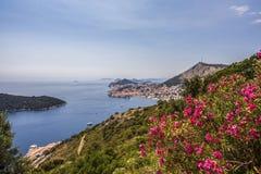 Dubrovnik-Küstenmeerblick adriatische Kroatien-Reise Lizenzfreies Stockbild