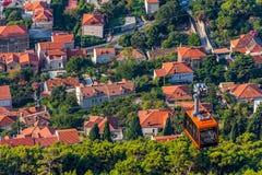 Dubrovnik kabelbil royaltyfri bild