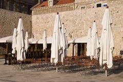 Dubrovnik-Kaffee lizenzfreie stockbilder